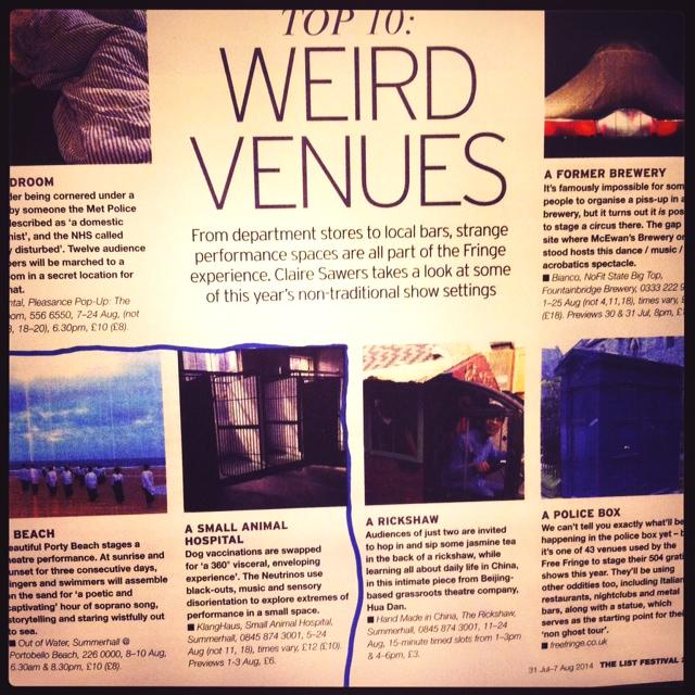 weird venues